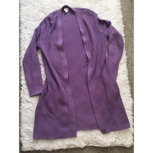 Chico's long Cardigan- Size 1- Violet
